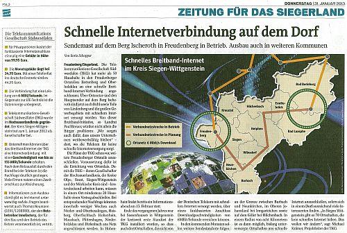 Westfalenpost, 31.01.2013