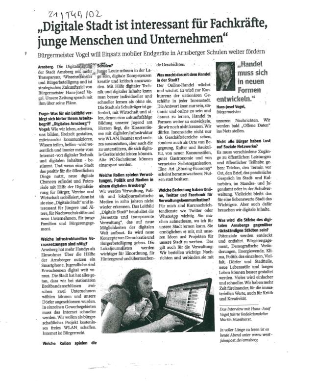 Westfalenpost, 3.12.2013