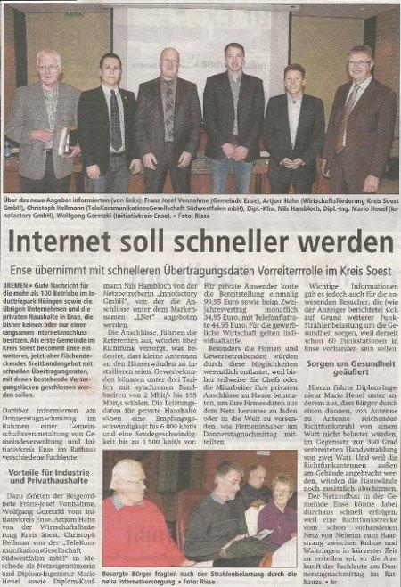 Soester Anzeiger, Samstag 3. März 2012