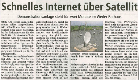 Soester Anzeiger, Freitag 25. Mai 2012