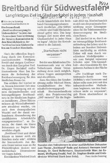 Sauerlandkurier vom 06.02.2011