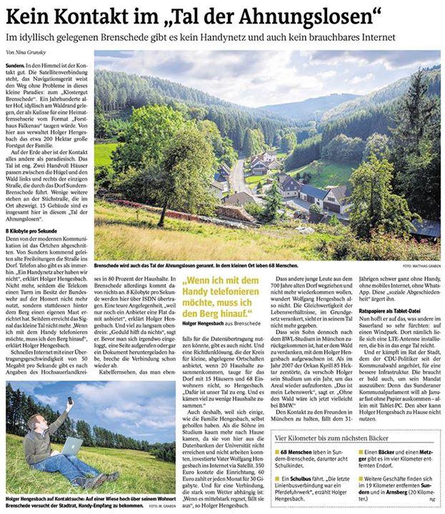 Westfalenpost vom 05.09.2014