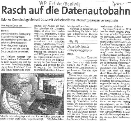 Westfalenpost vom 17.12.2011
